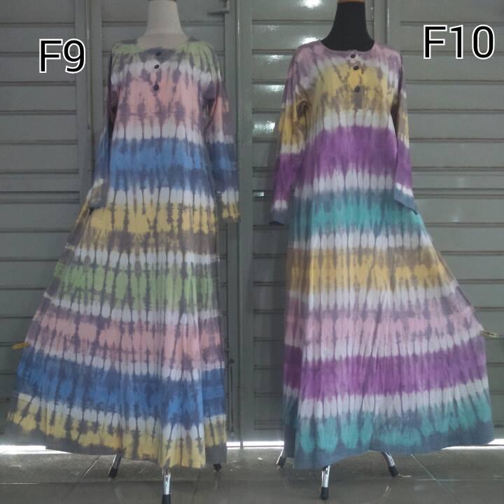 Stock Gamis / Dress Tiedye Lengkap Ada Disini
