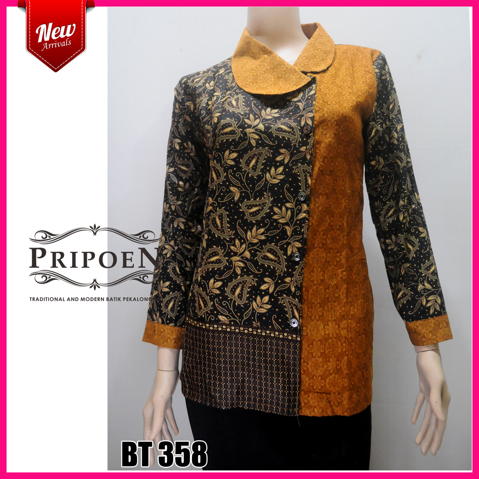 BLOUSE BATIK MOTIF SOGAN – BT 358