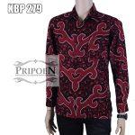 kemeja batik sogan – batik lengan panjang – KBP 279
